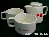 (日本電話專賣) Vodafone 罕有茶壺茶杯套裝 (非賣品) Vodafone迷