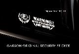 日本 GARSON 原裝 WARNING 貼紙